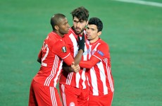 Olympiakos won the Greek league Sunday... but may lose it again tomorrow