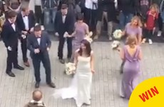 A bride and groom had a lovely impromptu first dance on Shop Street in Galway