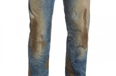 A shop is trying to sell a pair of ludicrous 'mud-covered' jeans for €415