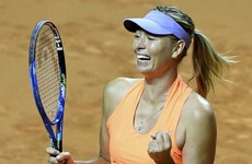 Maria Sharapova eases into semis in Stuttgart following doping ban return