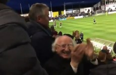 Michael D had the time of his life at a Galway United match last night
