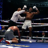 Anthony Joshua knocks out Wladimir Klitschko in world heavyweight epic