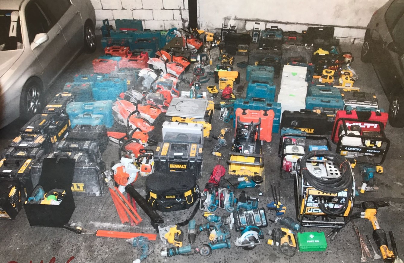 Two arrests as 50k worth of stolen industrial and for Gardening tools dublin