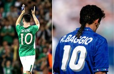 The story of Robbie Keane and the Italian legend who inspired him to wear number 10