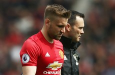 Luckless Man Utd defender Shaw ruled out for rest of the season