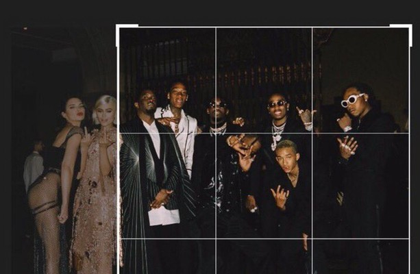 Diddy mercilessly cropped Kylie and Kendall out of an Instagram photo, and it's become a massive meme