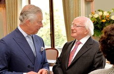 Michael D Higgins will have a private dinner with Prince Charles tonight
