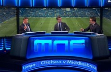Watch: Carragher and Neville have a heated debate about Mourinho and Man United
