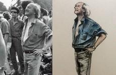 That iconic photo of Michael D at Slane has been turned into a class illustration