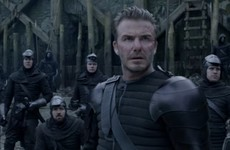 People are questioning David Beckham's acting chops after seeing the first clip of his Hollywood debut