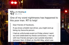 JK Rowling asked people to help a Dublin student find an important bag - and it worked