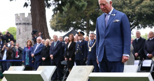 Prince Charles lays poppy wreath and unveils Victoria Cross memorials in Glasnevin Cemetery