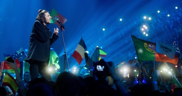 Portugal scores first ever Eurovision with simple ballad (and not a glitzy backup dancer in sight)