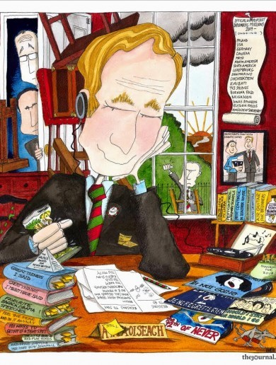 This is almost certainly what Enda Kenny's office looks like right now