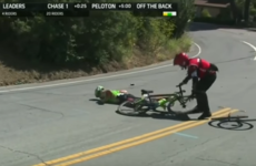 Cyclist who suffered concussion in heavy crash pulled from Tour of California