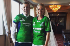'Our invitations were copies of PRO12 final tickets and we entered the reception wearing our jerseys'