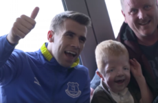 Seamus Coleman helps make young Everton fan's dream come true
