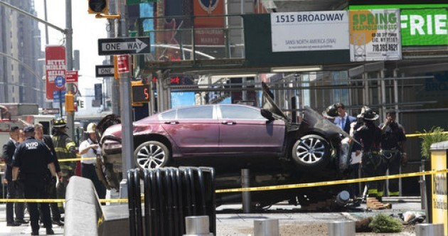 One dead and 22 injured as car ploughs into pedestrians at Times Square