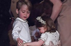 The internet has fallen for this adorable photo of George and Charlotte at Pippa Middleton's wedding