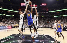 Kevin Durant stars as Warriors put Spurs on brink of elimination