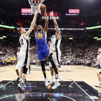 Kevin Durant stars as Warriors put Spurs on brink of elimination