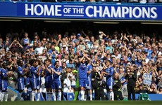 John Terry receives guard of honour as he leaves the pitch in the 26th minute