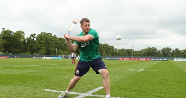 The Lions are playing hurling and soccer as their week-long Ireland training camp begins