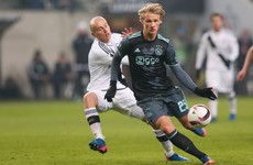 Ajax wonderkid Dolberg won't push for super-club move