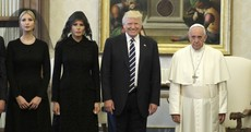 They've shared sharp words in the past, but today Donald Trump met Pope Francis