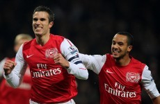 Just another manic Sunday for RVP and Arsenal