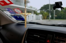 Philippine authorities ban hanging rosary beads off car dashboards