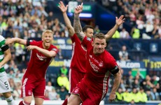 Ireland's Jonny Hayes struck early against Celtic in the Scottish Cup final
