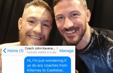 This gal messaged Conor McGregor's coach... thinking he was a coach company