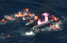 Dramatic video shows migrants rescued from burning boat off coast of Spain