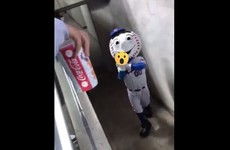 The New York Mets apologise after mascot gives fans the 'middle finger'