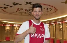Reunited: Klaas Jan Huntelaar rejoins Ajax after nine years apart