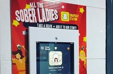 A pub in Cork has put a 'Snapchat Station' in the bathrooms, which will of course end well
