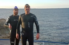 Two Naas men swim for charity through shark-infested waters
