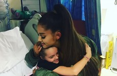 Ariana Grande visits injured fans in hospital