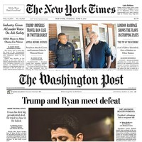 In the age of Trump, two American newspapers are flying the flag for hard news journalism