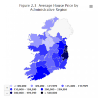 There are only three Irish counties where the average house price is under �100,000