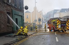 Firefighters battle blaze at derelict pub in Balbriggan