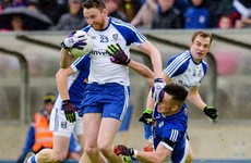 Cavan rattle the post with the last kick of the game as Monaghan sneak into Ulster semi-finals