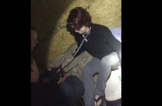 Footage shows moment woman chained up for two months by serial killer is rescued