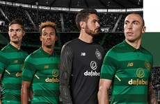 Celtic have launched a two-toned green away kit for next season