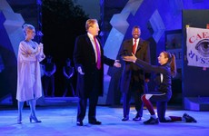Sponsors drop play for depicting Julius Caesar as Trump