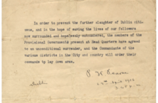 Patrick Pearse 1916 surrender letter sells for £263,000 at London auction