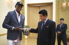 Dennis Rodman's gifts for Kim Jong-un include Trump's book and a mermaid puzzle
