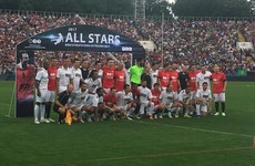Robbie Keane and Man United stars turn out for Berbatov v Figo legends match