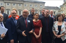 These Sinn Féin MPs were at Leinster House today to demand speaking time